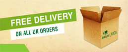 Natural Juices free delivery on all UK orders