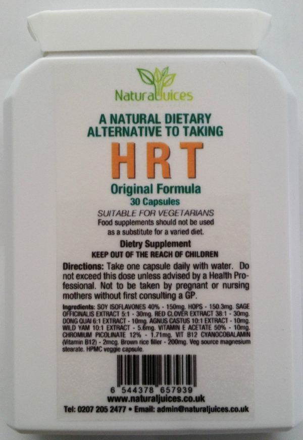 Natural Herbal Alternative to taking HRT 30 capsules