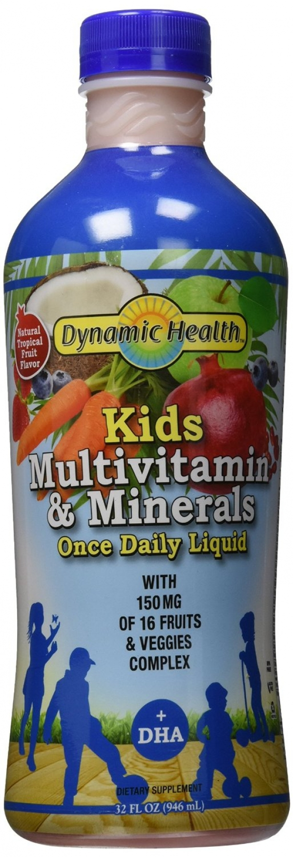 Dynamic Health Kids Multivitamin & Minerals Plus DHA Once Daily Liquid 32 oz