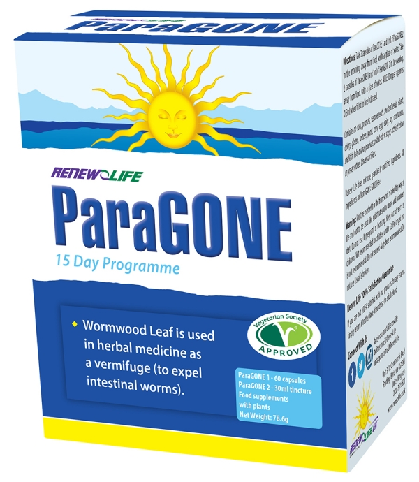 Renew Life ParaGONE 60 Capsules plus 30ml Tincture
