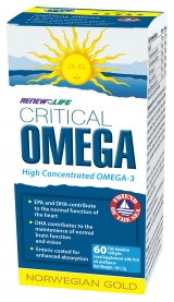 Renew Life Norwegian Gold Critical Omega Fish Oils Capsules