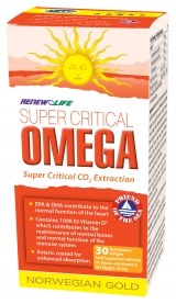 Renew Life Norwegian Gold Super Critical Omega Fish Oils Capsules