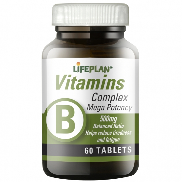 Lifeplan B Complex Mega Potency - 60 Tablets