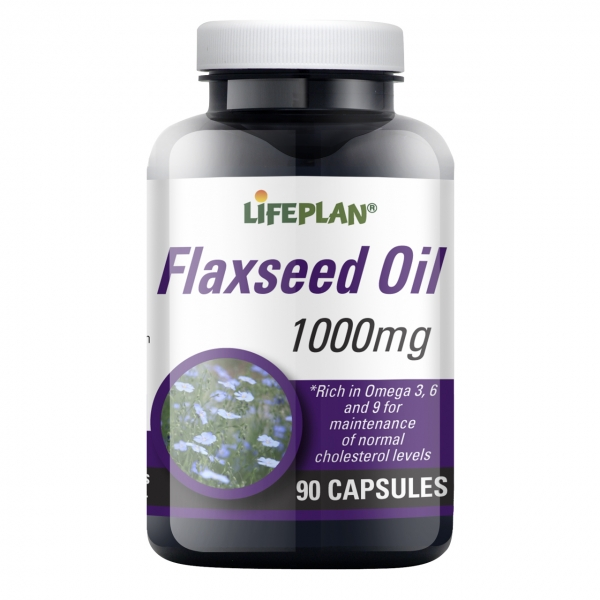 Lifeplan Flaxseed Vegicaps Oil 1000mg 90 Capsules