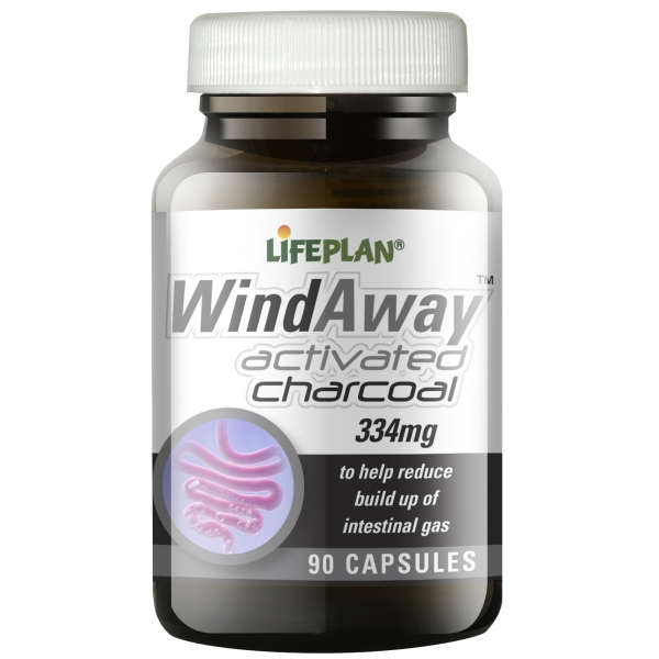 Lifeplan Wind Away Activated Charcoal Capsules - Pack of 90