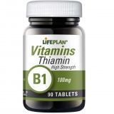 Lifeplan Thiamin Vitamin B1 100mg 90 Tablets