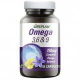 Lifeplan Omega 3, 6 & 9 Fish Oils 750mg 90 capsules