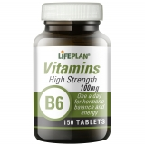 Lifeplan High Strength Vitamin B6 Pyridoxine 100mg 150 Tablets