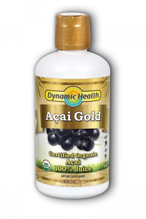 Dynamic Health Acai Gold Pure Organic Certified Acai Berry Juice