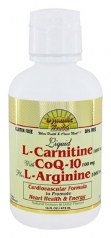 Dynamic Health Liquid L-Carnitine with CoQ-10 plus L-Arginine